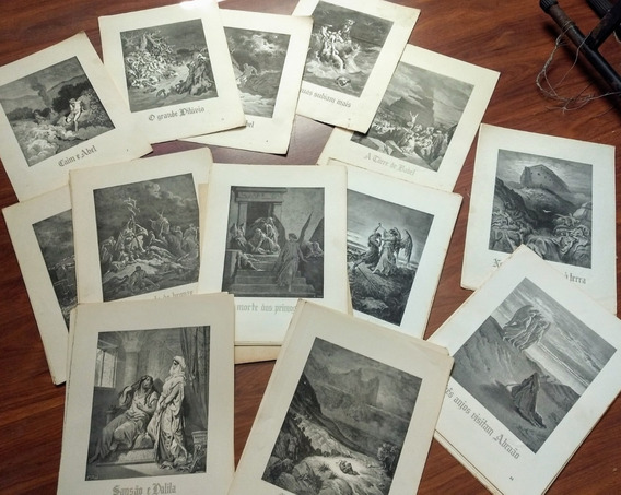 A Bíblia Em Folhas Soltas Ebal 65 Pranchas Grande Litografia