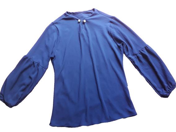 Blusa Manga Longa Crepe