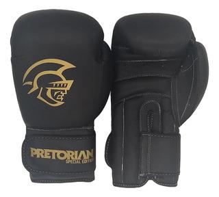 Luva De Boxe/muay Thai Pretorian Pro Special Ed Black 14oz
