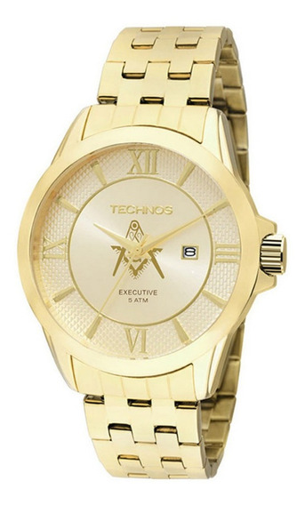 Relógio Masculino Technos Dourado Classic Executive Original
