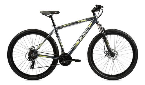 """Mountain bike Olmo Flash 290+ R29 18"""" 21v frenos de disco mecánico cambios Shimano Tourney TY300 color gris/amarillo"""