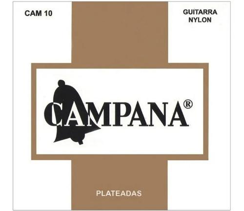 Encordado Guitarra Clásica Campana Cam 10 Plateadas Leomusic