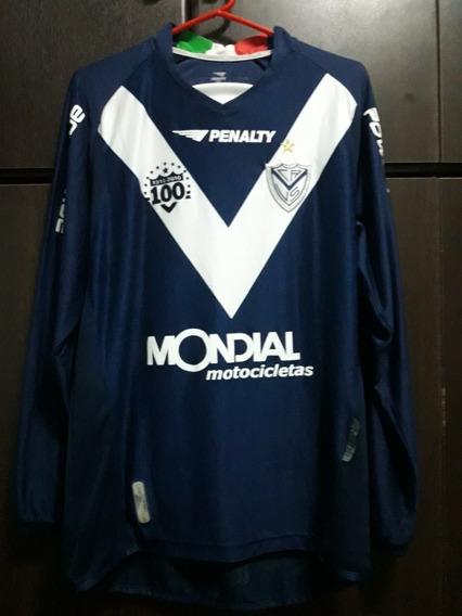 Camiseta De Vélez Sarsfield Azul Manga Larga Centenario