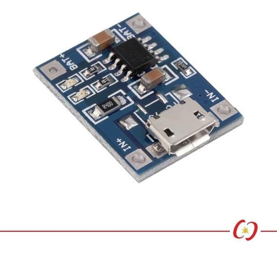 Módulo Carregador De Bateria - Lithium / Lítio - Tp4056 - 1a