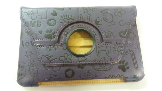 Capa Case Giratório Couro Roxo Tablet P6200 12x18,8 Lelong