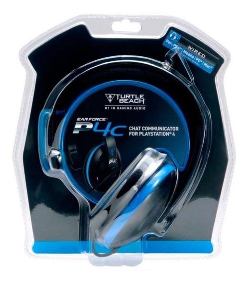 Headset C/ Fio Turtle Beach P4c - Ps4, Xbox One, Mobile E Pc