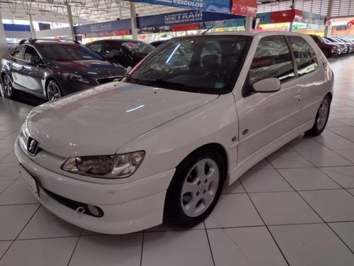 Pegeout 306 Rally Branco 2000 Completo Ac Troca  E Financio