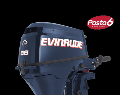 Motor De Popa Evinrude 9.8 Hp 4t Zero Faturar Posto 6