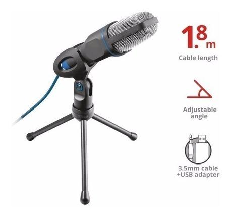 Microfone Para Pc Usb Trust Estilo Estúdio Alto Desempenho
