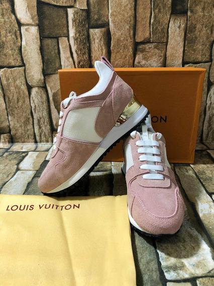 Tenis Louis Vuitton Run Away Dama Rosa