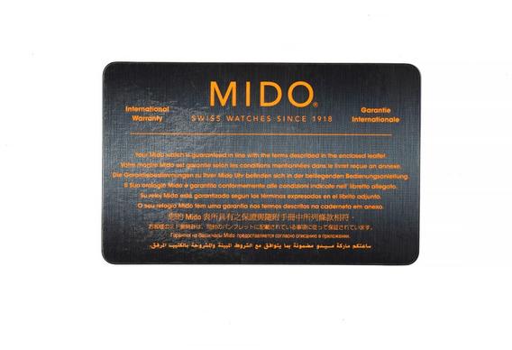 Mido - Cartão De Garantia Do Relógio I Original