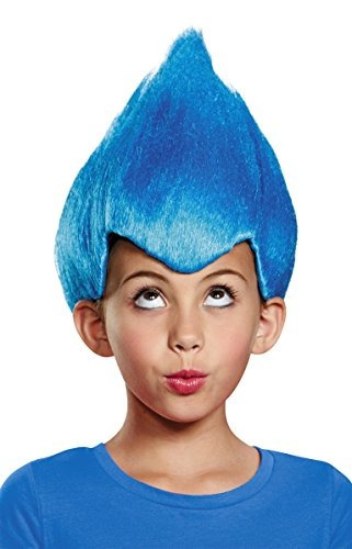 Pelucas,disfraz Azul Raro Del Niño Peluca, Un Tamaño Inf..