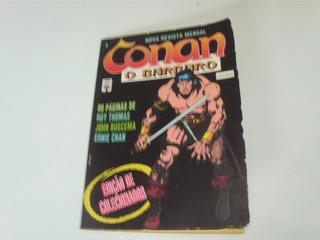 Hq Conan O Bárbaro Nº 1 - Ed Abril - 1992 - Formatinho