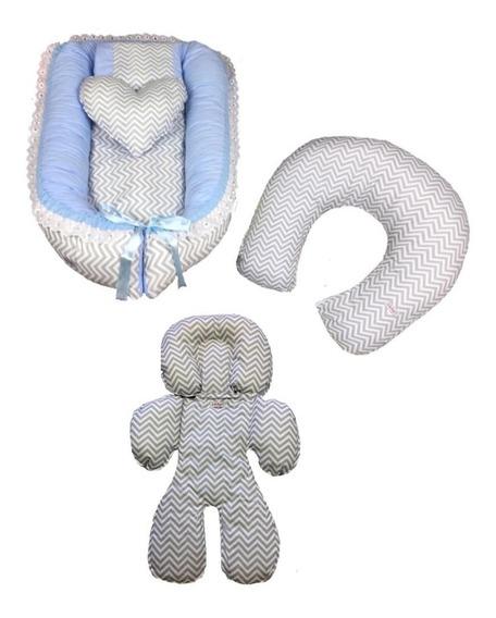 Ninho Redutor Para Berço, Ajuste Bebê Conforto E Almofada Am