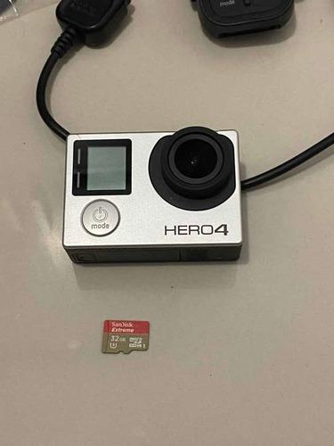 Gopro Hero 4 Silver + Cartão + Controle Remoto + Acessórios
