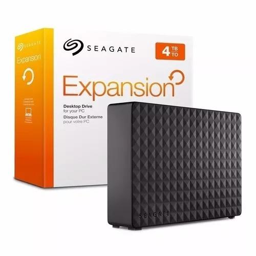 Hd Seagate Externo 4tb Expansion Com Fonte Usb 3.0 2.0 3.5
