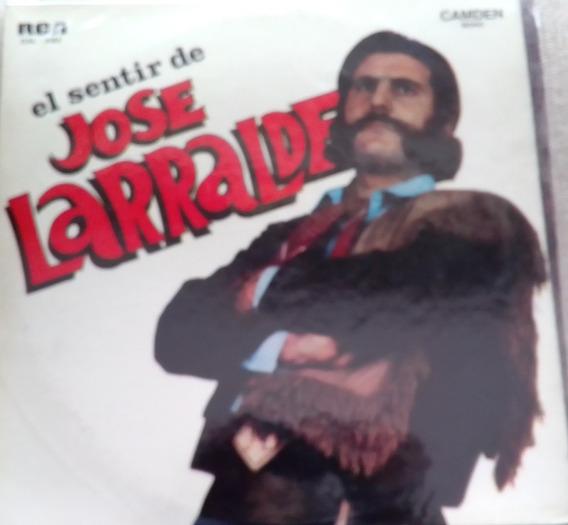 Disco De Vinilo -jose Larralde - El Sentir De