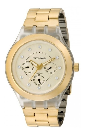 Relógio Technos Feminino Dourado 6p29bh/4x
