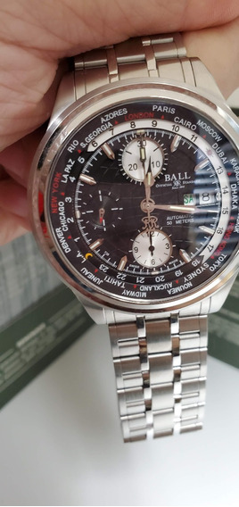 Relogio Balltrainmaster Worldtime Cronografico Cm2052d-sj-bk