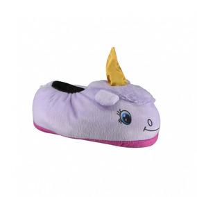 Pantufa Infantil Pé Quentinho Unicornio 10 | Katy Calçados