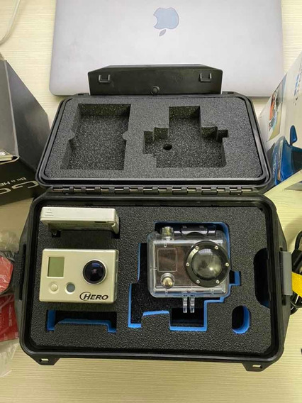 Câmera Gopro Hero 1 + Tela Lcd + Caixa + Acessórios Rara Com