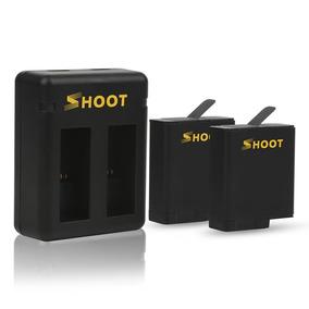 Kit Com Carregador Duplo E Duas Baterias - Gopro Hero5 Black