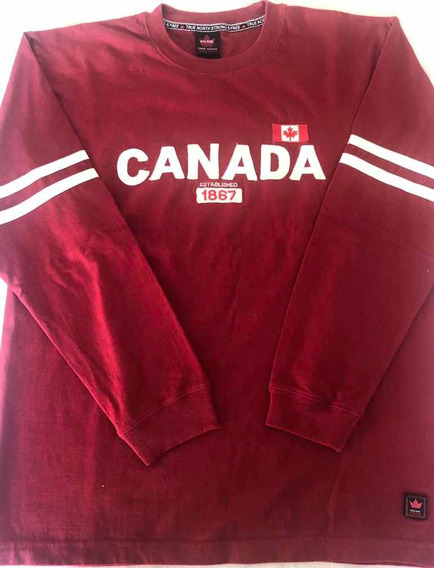 Remera M/larga True North Canada , Talle L