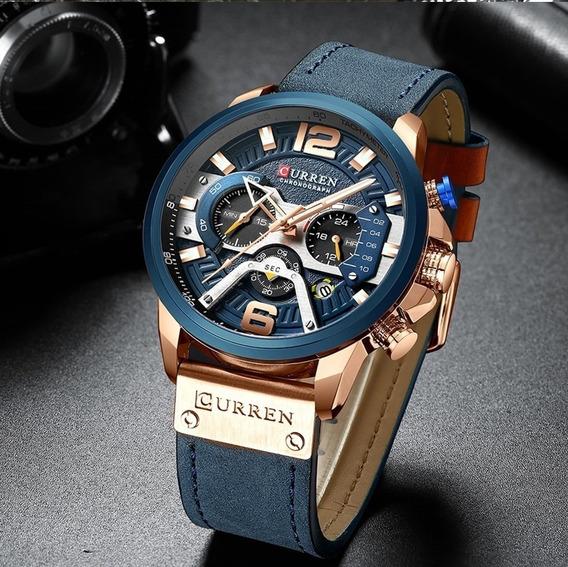 Relógio Masculino Curren Militar De Luxo Modelo 8329 Barato
