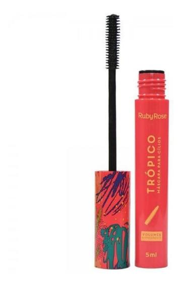 Mascara Para Cílios 5ml Volume E Alongamento Ruby Rose (rosa)