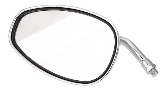 Par Motocicleta Espelhos Retrovisores Universal Cromo Oval 1