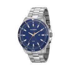 Relógio Mondaine Masculino Aço Fdo Azul -35379
