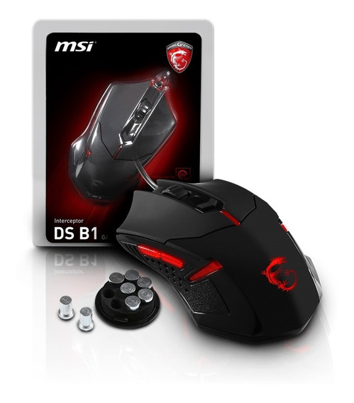 Mouse Usb Gamer 1600 Dpi 6 Botoes Gaming Gear Ds B1 Msi