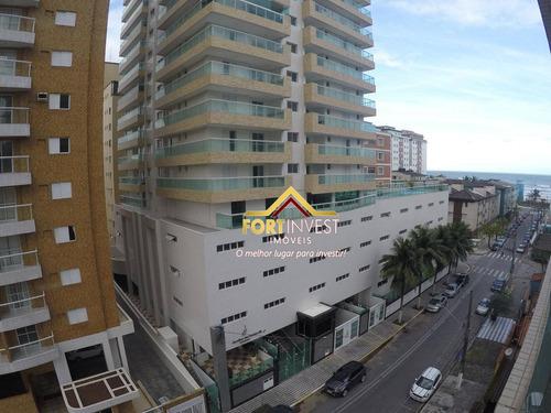 Apartamento Com 2 Dormitórios À Venda, 106 M² Por R$ 495.000,00 - Tupi - Praia Grande/sp - Ap1913