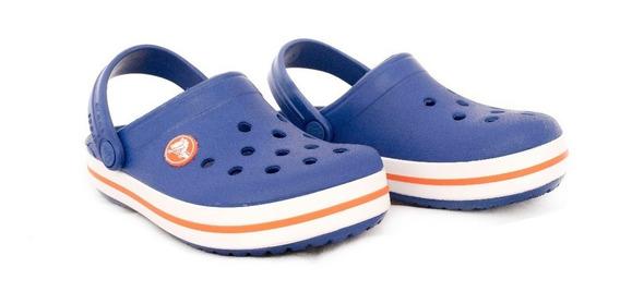 Crocs Originales Kids Band Unisex Azul/naranja