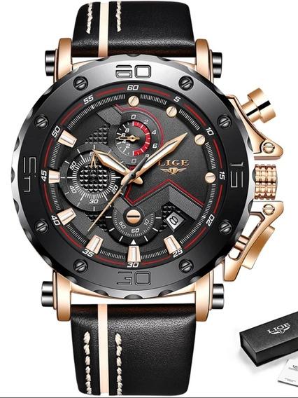 Relógio Masculino Lige 9899 De Luxo Original Barato