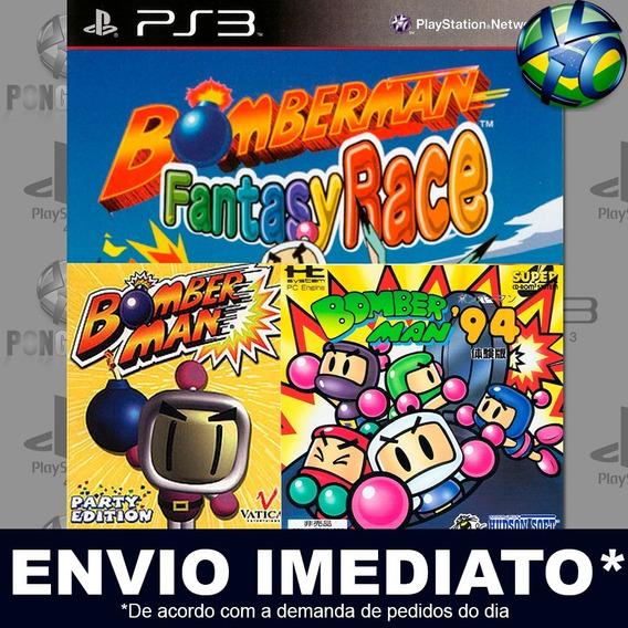 Bomberman 94 + Race + Party Ps3 Psn Jogo Em Promoção