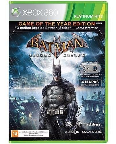 Game Batman: Arkham Asylum - Xbox 360 -novo