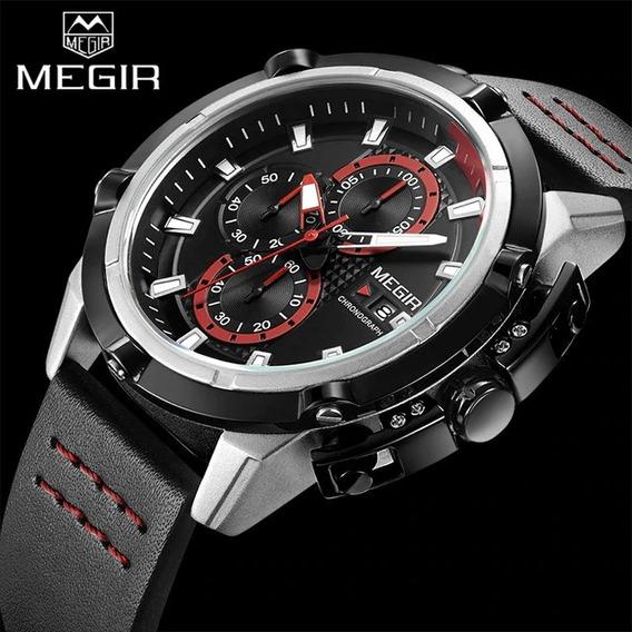 Relógio Masculino Megir 2062 Chronograph 100% Original