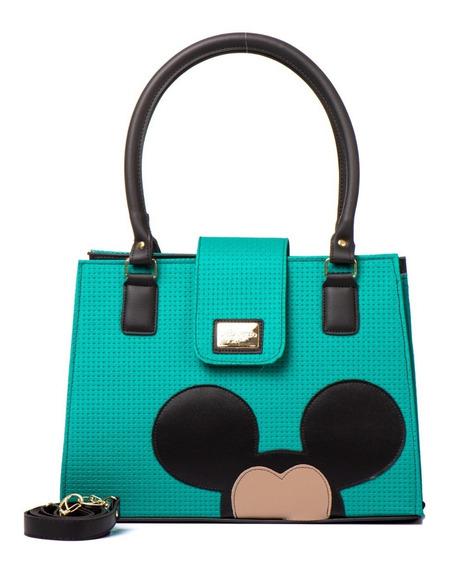 Bolsa Feminina Transversal Forrada Quadrada Magic Mickey