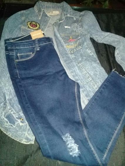 Camisa De Jeans Y Pantalon