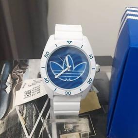 Relógio adidas Adh3195 Unisex Silicone Azul Original