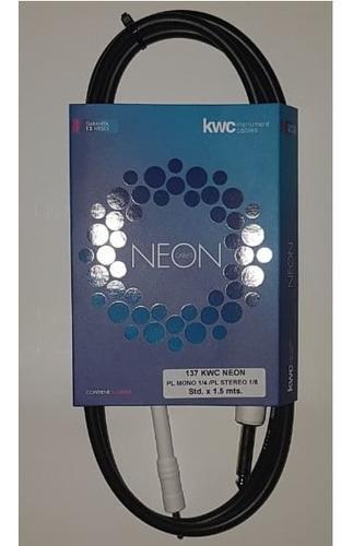 Imagen 1 de 6 de Cable Kw Kwc 137 Plug 6,5 - Mini Plug 3,5 Estereo 1,5 Mts