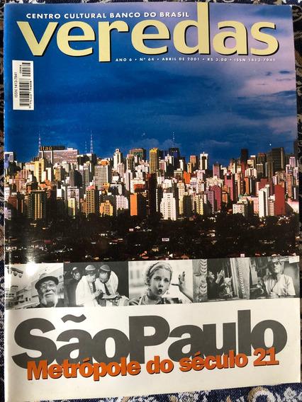 Revista Veredas Ccbb Ano 6 Nº 64 Abril 2001 São Paulo