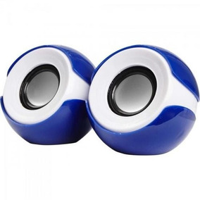 Mini Alto-falante 2.0 Exbom Cs-69 Azul/branco