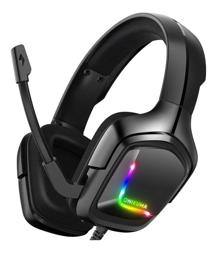 Auriculares Gamer Onikuma K20 Black Y Rgb Light