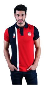 Playera Polo Porto Blanco Algodon Hombre Roja Usa Ple-770