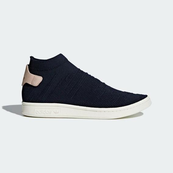 Tenis adidas Stan Smith Sock Pk Azul Unisex Nuevo Original