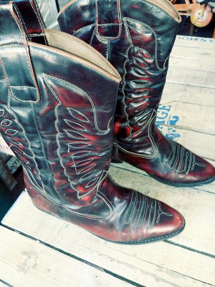 Botas Texanas Decada 70 Impecables 40/41