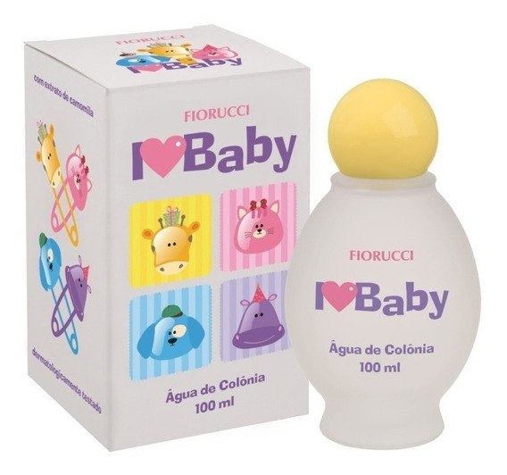 Água De Colônia Fiorucci I Love Baby 100 Ml Camomila (2 Und