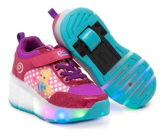 Zapatos Tenis Ruedas Polly Pocket Talla 30 Ros Polly Pocket